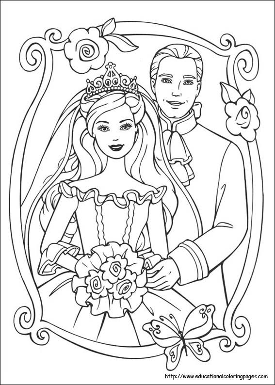 Coloring Pages Princess Barbie