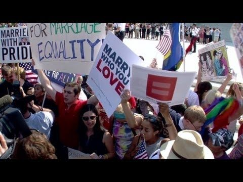 Evolution of gay marriage support in US - YouTube