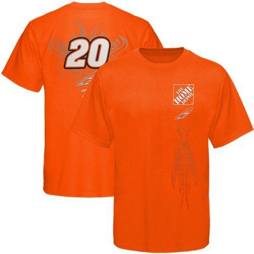 c72712a4b NASCAR Checkered Flag Joey Logano Fan T-Shirt - Orange (Large) by Football