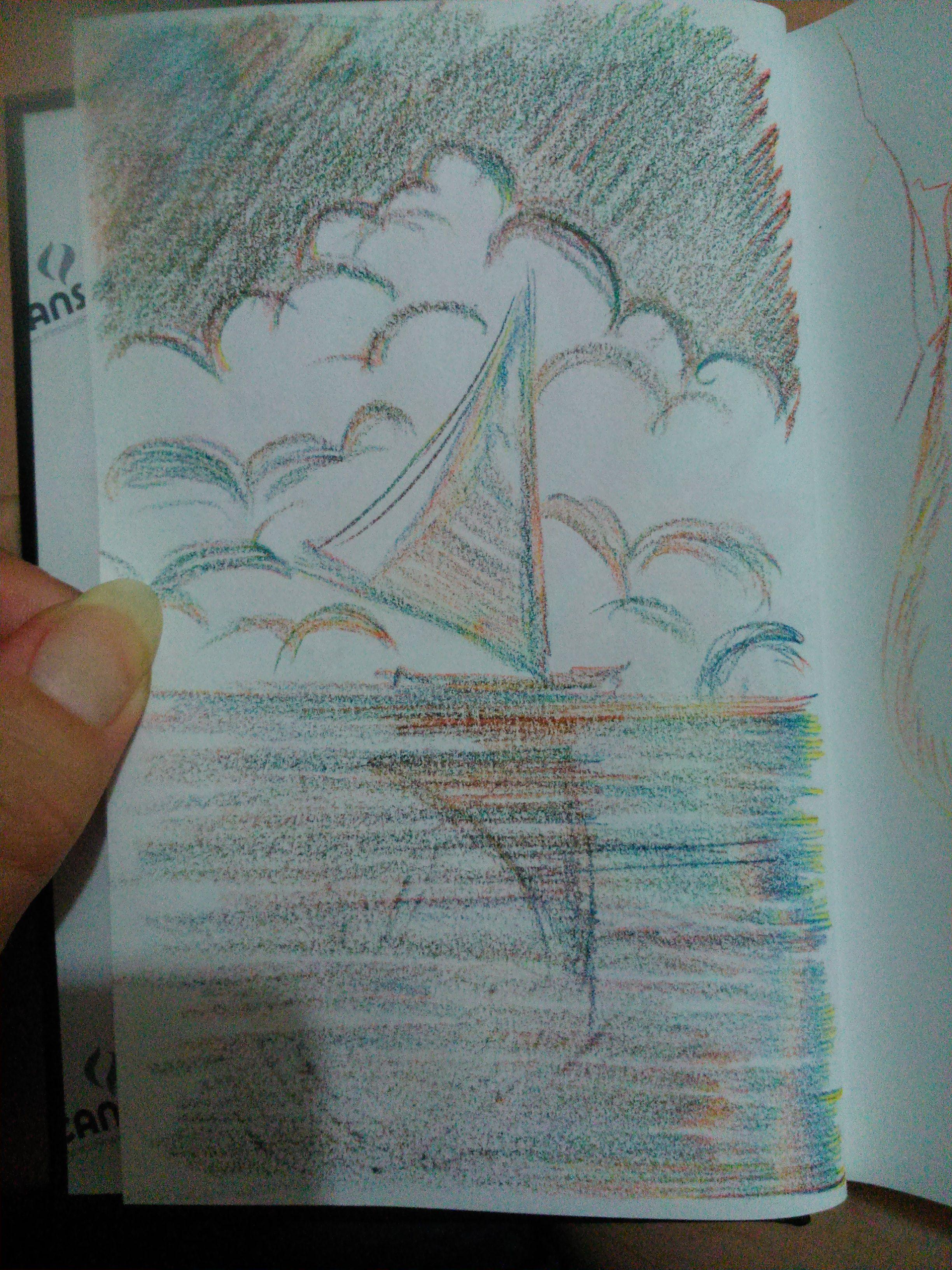 Teste rápido feito com o lápis de cor multicolorido da Koh-I-Noor.