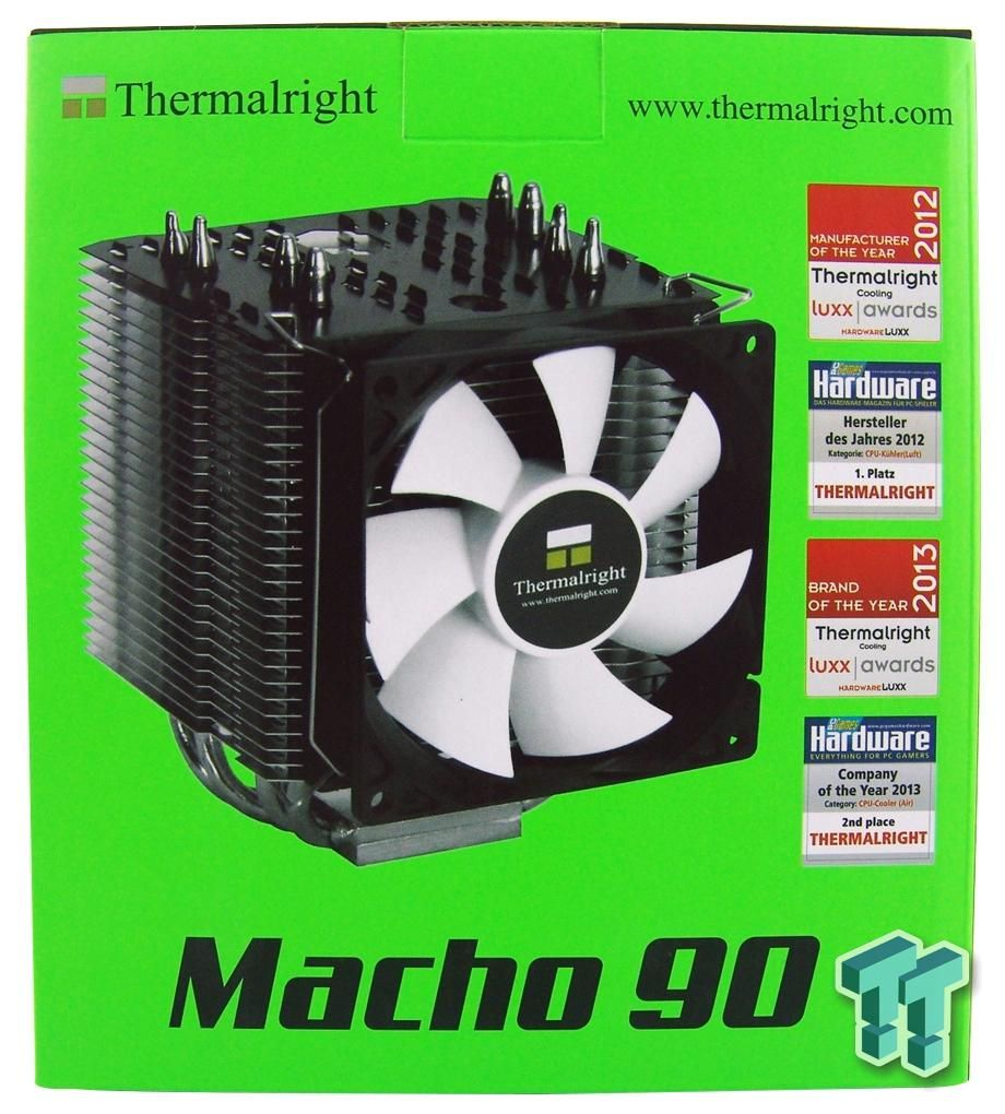 Thermalright Macho 90 Cpu Cooler Review Cooler Reviews Macho Reviews