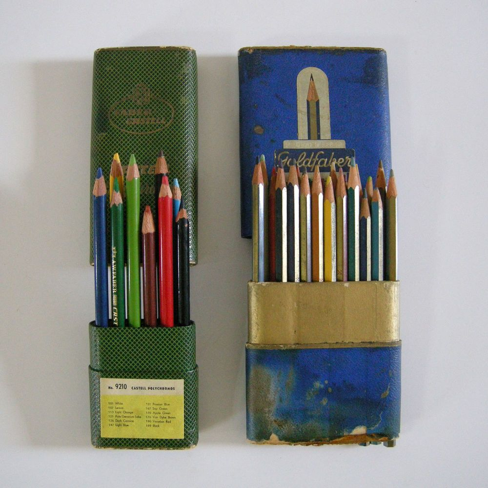Vtg Faber Castell Polychromos 9210 Goldfaber 4104 Color Pencils