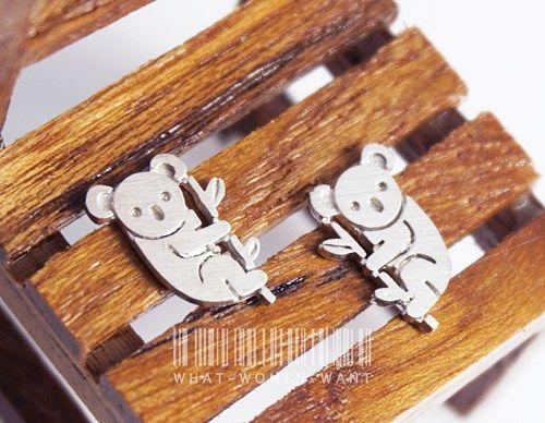 Sweet koala earrings, animal jewelry, koala earrings, nature earrings
