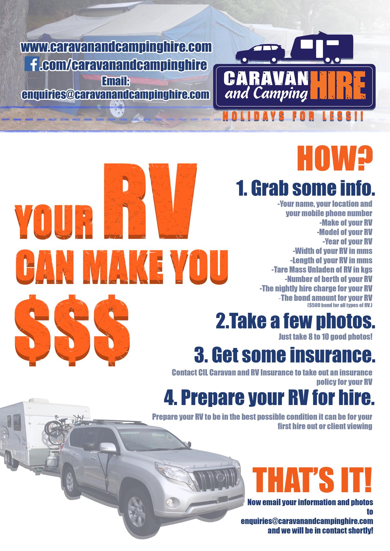 How to HIRE out your Caravan/Camper Caravan Hire