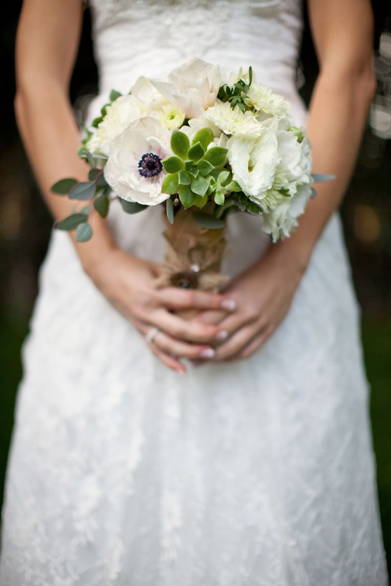 Vintage Purple and White California Wedding | White bouquets ...