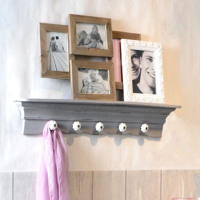Garderobe Mit Ablage Und 5 Haken L 75cm Grau Haus Interieu