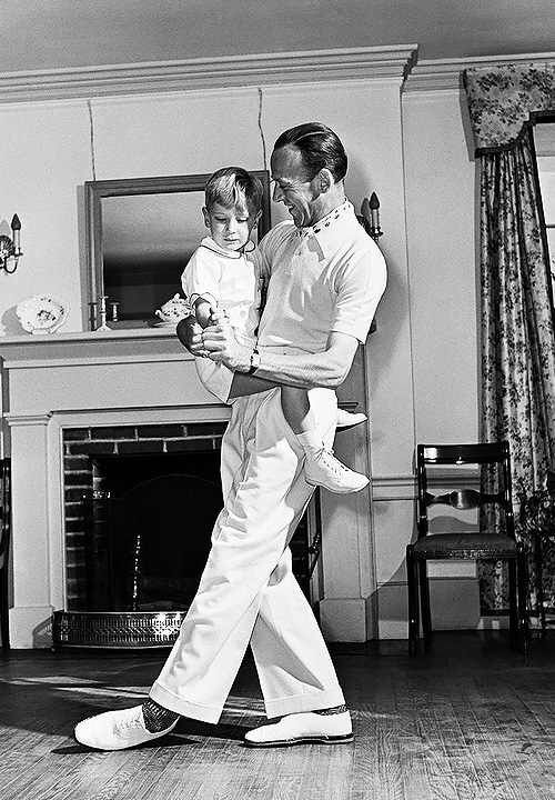 Fred Astaire with son, Fred Jr  | (People: Family) The Astaires