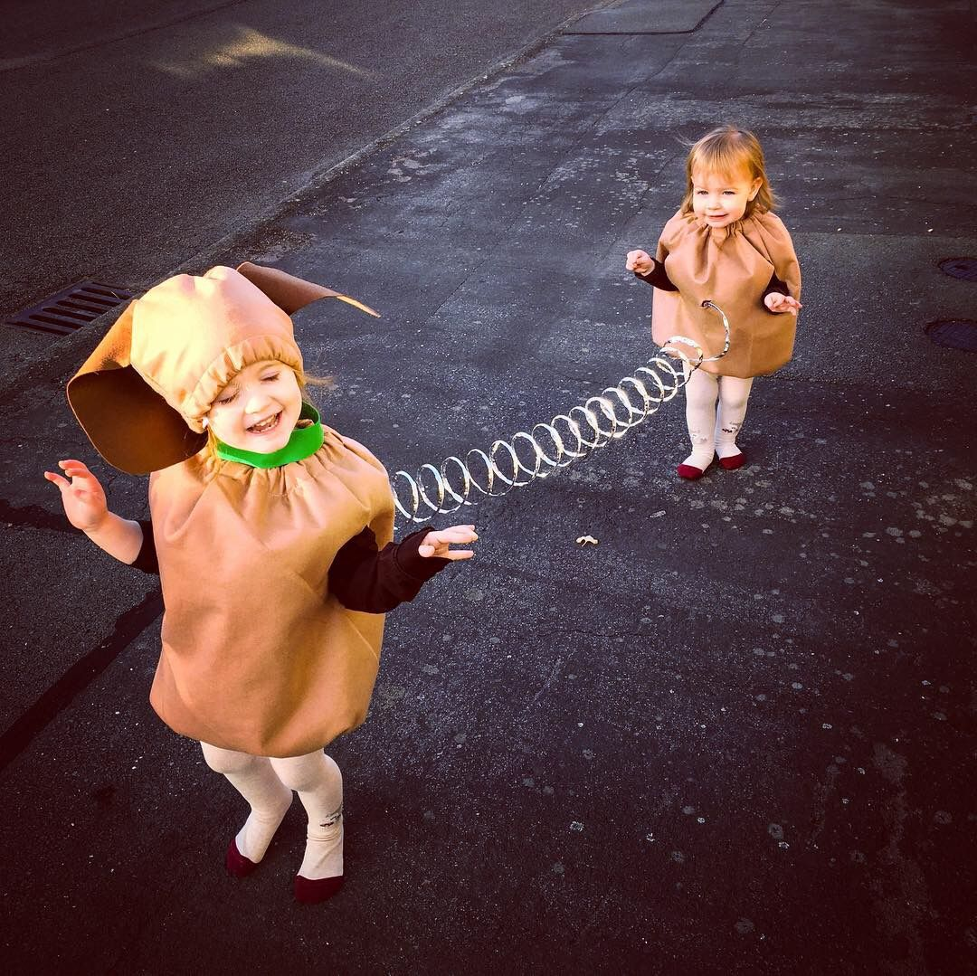 Halloween Costume All Finished The Girls Are Slinky Dog From