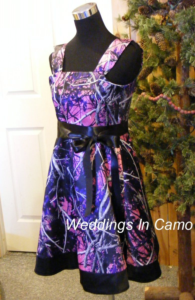 655c1d8d5 MUDDY GIRL CAMO Dress+camo flower girl dress+in Satin with sash in ...