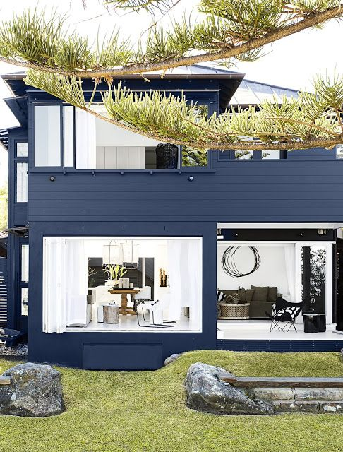 inspiring spaces + places | Navy paint, Doors and House
