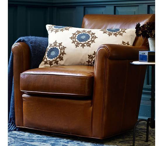 Irving Leather Swivel Armchair | Pottery Barn · Leather Recliner ChairSwivel ... & Irving Leather Swivel Armchair | Pottery Barn | Home Sweet Home ... islam-shia.org