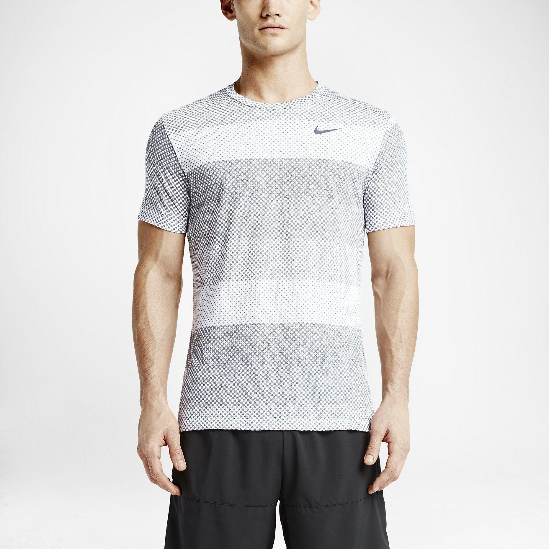 3f45ba5ab619b Nike Dri-FIT Cool Stripe Tailwind Crew Men s Running Shirt. Nike Store