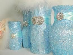 Love these!!!!! Dollar store vases with glitter! A girl can never have enough glitter!