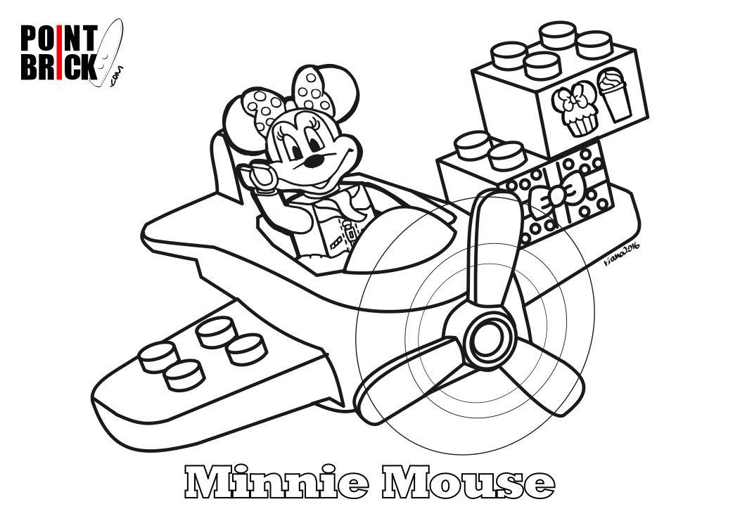 Disegni Da Colorare Lego Disney Topolino E Minnie