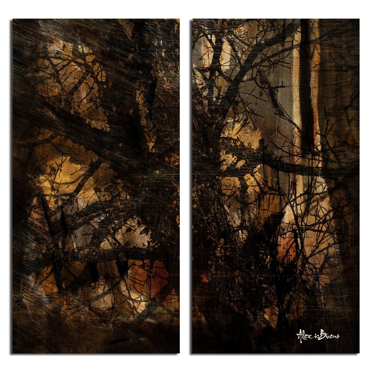 'Tree Study' by Alexis Bueno 2 Piece Graphic Art on Wrapped Canvas Set
