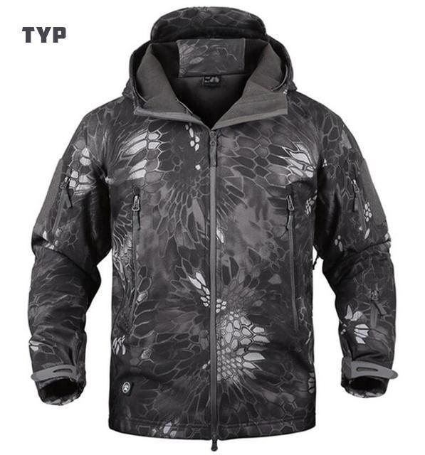 db441c3ee3749 Tactical Softshell Jacket Waterproof Windproof Outdoor Sports Jacket For  Hunting Trekking Travel Military Camouflage Fleece Jacket