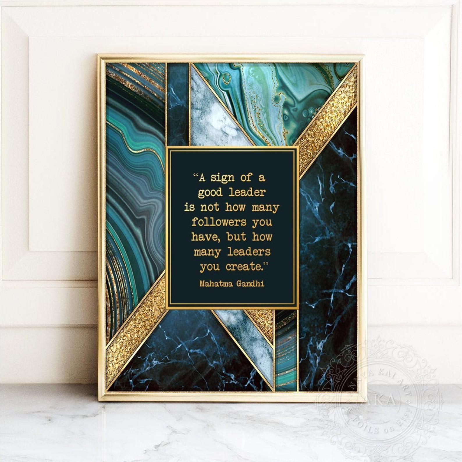 Mentor gift thank you gift for mentor mahatma gandhi