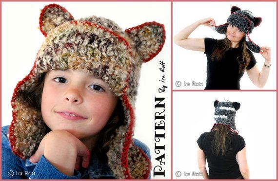 bafed20aa6d Dream Cloud Teddy Bear Kitty Cat Hat Crochet PDF Pattern  7.50 CAD