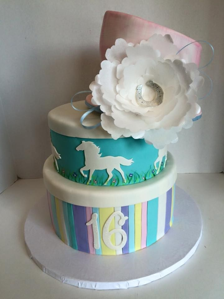 Equestrian Themed Birthday Cake Jenns Cakes Pinterest