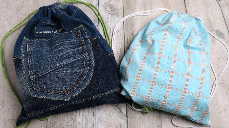 Turnbeutel sind voll im Trend. Jeder trägt sie, ob jung oder alt ...