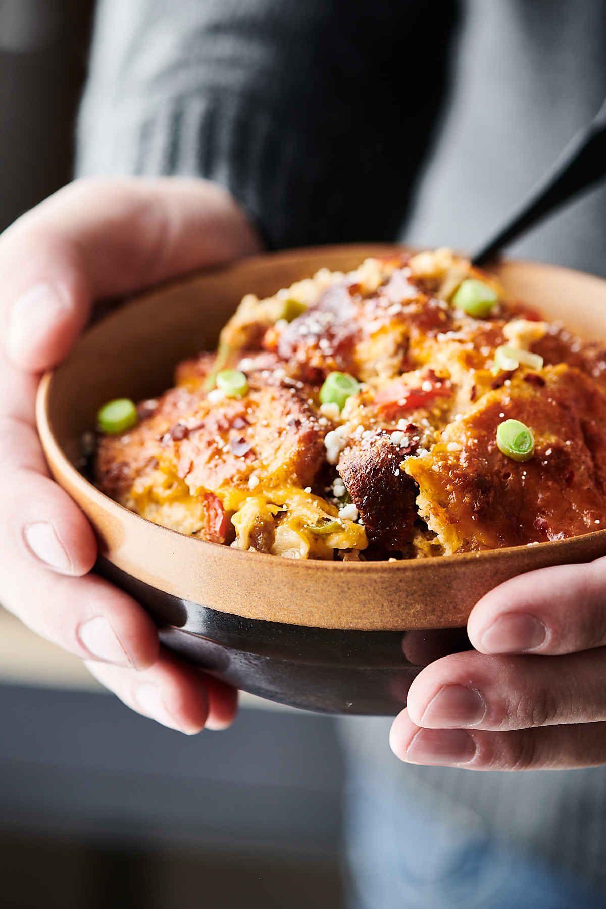 Overnight Breakfast Sausage Casserole Recipe - Bread, Eggs ...