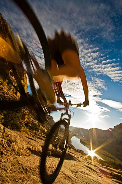 Get moving. Mountain Bike. Take the scenic route