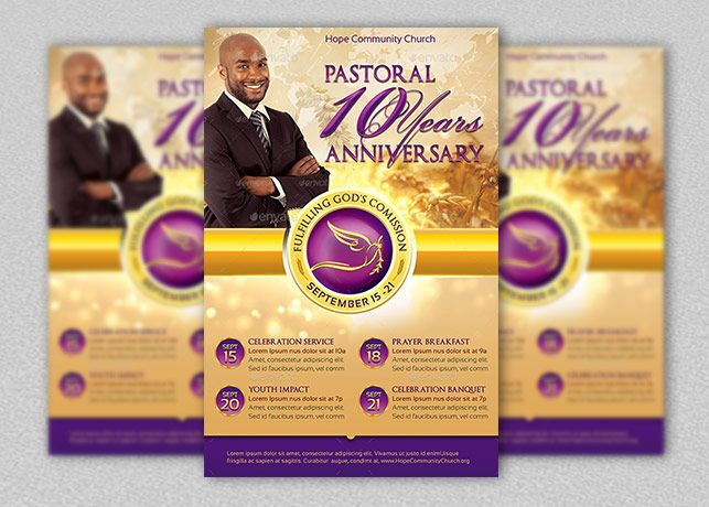 Awesome Clergy Anniversary Flyer And Poster Template Is For Anniversary Celebration  And Appreciation Events For Church Pastors Inside Funeral Poster Templates