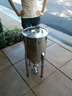 Stainless Steel Conical Fermenter With Temperature Controller Animation Http Www Westcoastbrewer