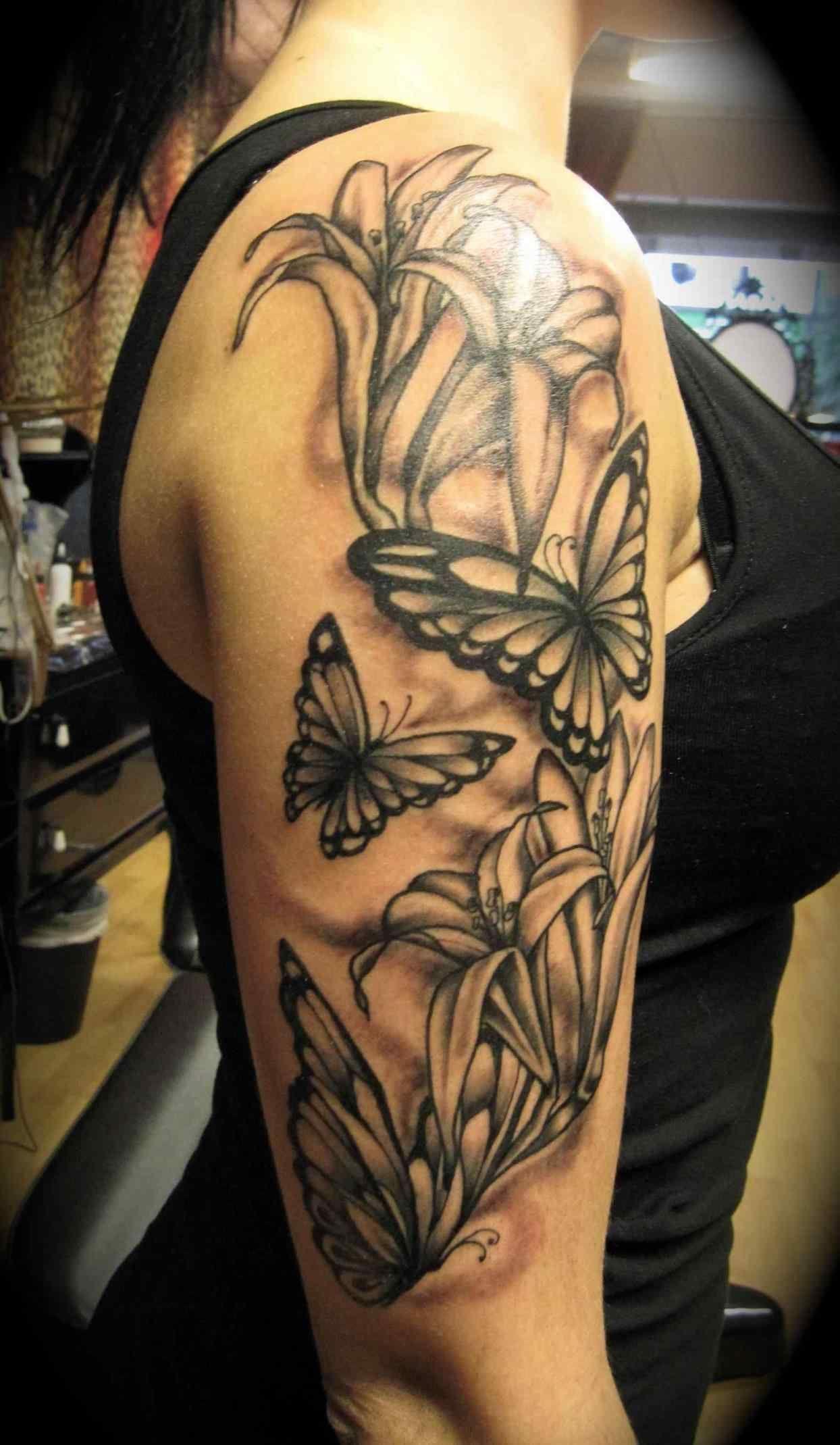 Girl Half Sleeve Tattoos Snet Rose Arm Half Sleeve Tattoo Butterfly Sleeve Tattoo Sleeve Tattoos