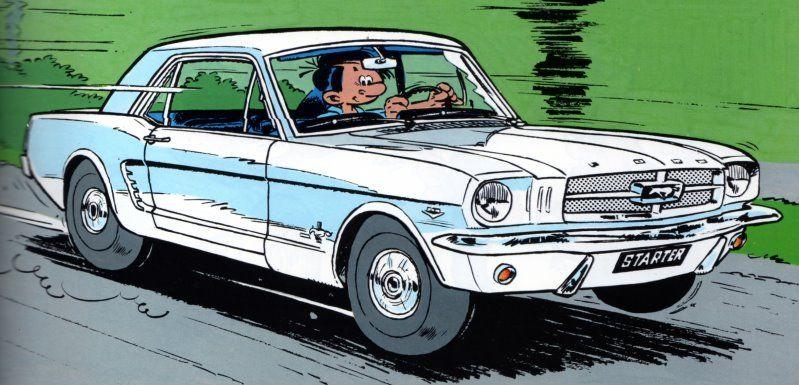 starter en ford mustang cartoons cars dessin voiture. Black Bedroom Furniture Sets. Home Design Ideas