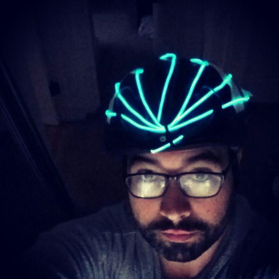 EL wire bike helmet | human-scale interventions | Pinterest