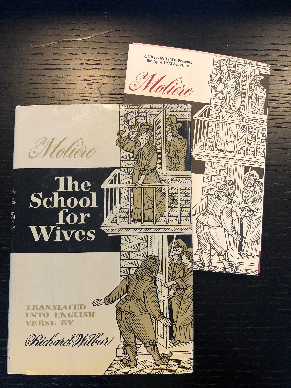 Moliere School for Wives 1971 Richard Wilbur Book Club Ed