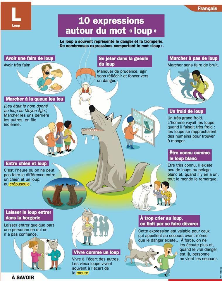 10 expressions autour du mot loup orthophonie pinterest loups le loup et expressions - Expression avec le mot coup ...