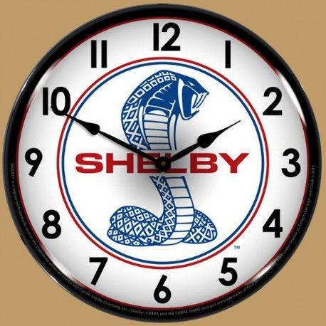 Horloge murale lumineuse r tro clair ford mustang shelby cobra cars pinterest ford for Horloge lumineuse