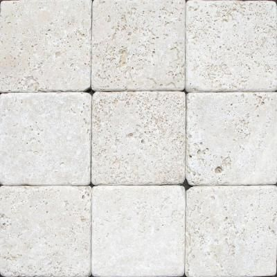 Travertine Tile Home Depot >> MSI Chiaro 4 in. x 4 in. Tumbled Travertine Floor and Wall