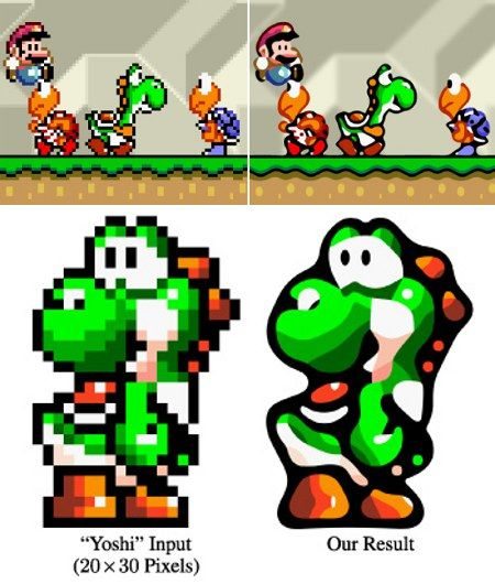 Video Game Algorithm Smooths Out Pixelation