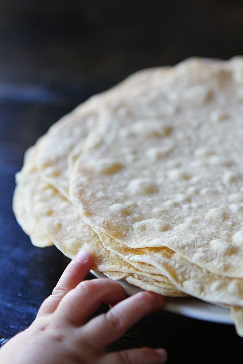 Homemade Flour Tortillas Recipe on twopeasandtheirpod.com Make fresh tortillas at home! You will never buy them again!