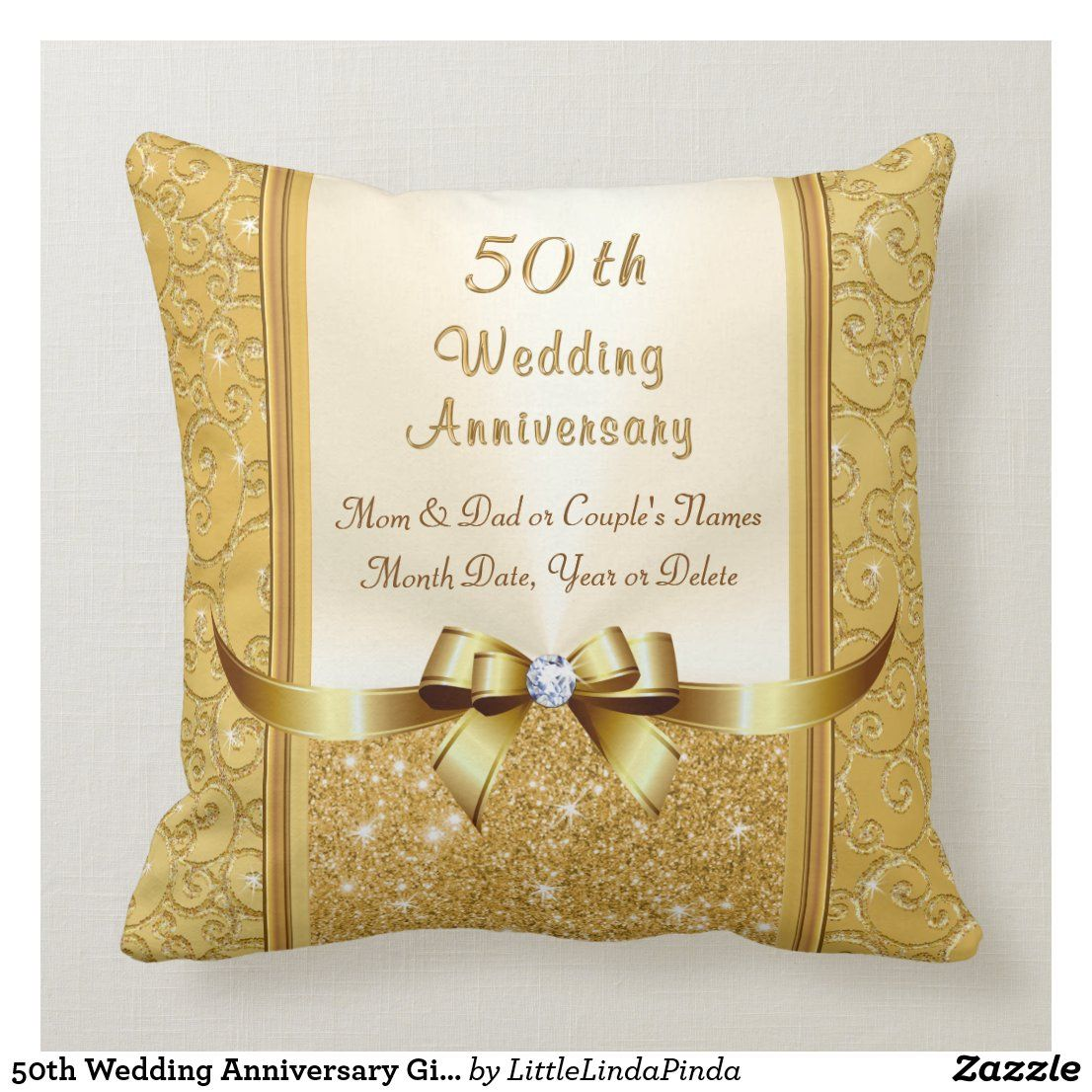 50th Wedding Anniversary Gift Ideas for Parents Throw
