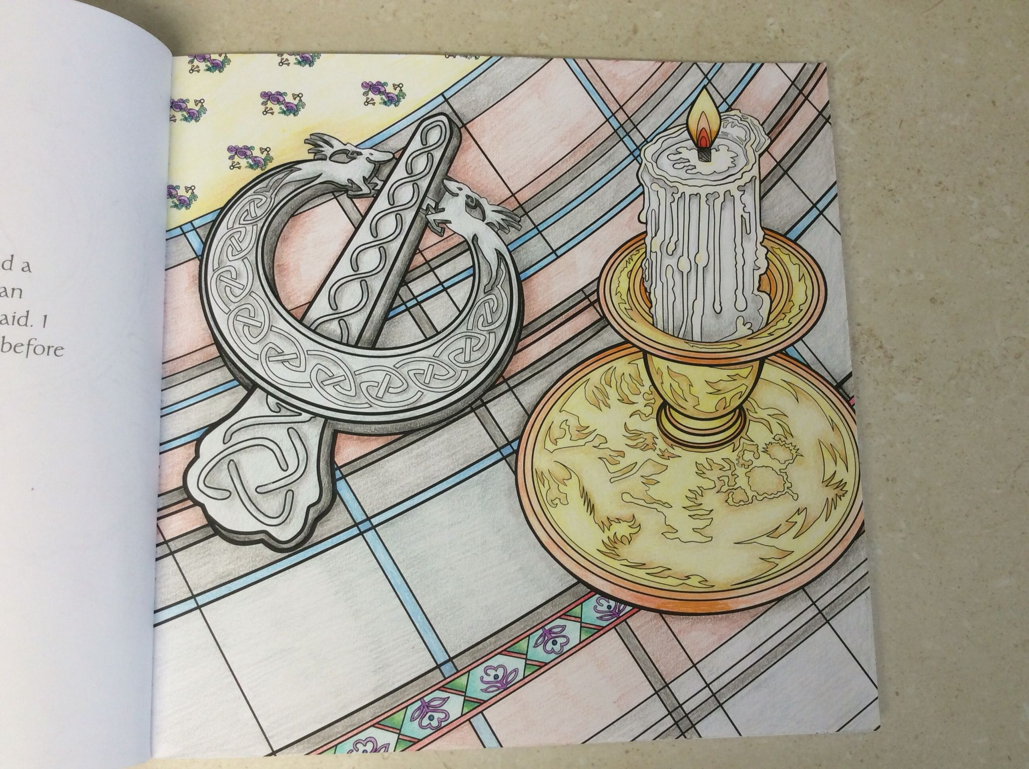 The coloring book review colin quinn - Official Outlander Coloring Book Page 11 Coloured By Chris Hajjar Of Outlander Obsession