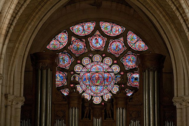 Laon Cathedral West Rose Stained Glass Window France High Gothic Stained Glass Church Gothic Cathedral Cathedral