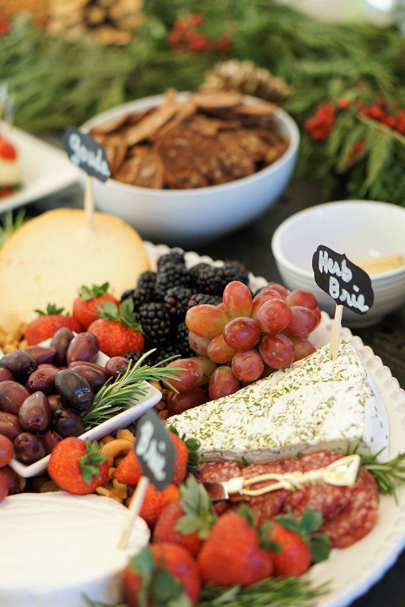 Cheese Plate Tutorial | How To Create a Gourmet Cheese Plate | Fruit u0026 Cheese Plate & Home Entertaining Guide - How To Host a Rustic Glam Holiday Party ...