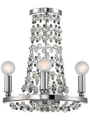 Deco Inspired Chrome Crystal Sconce Matching Chandelier Crystal Wall Sconces Sconces