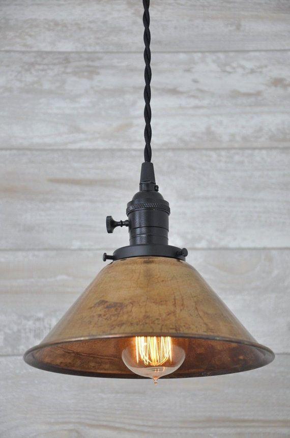 Copper Pendant Light Copper Lighting Copper Lamp Shade Black Hanging Lights Industrial Lighting Farmhouse Lights Kitchen Light Rustic Light Fixtures Rustic Lighting Rustic Pendant Lighting