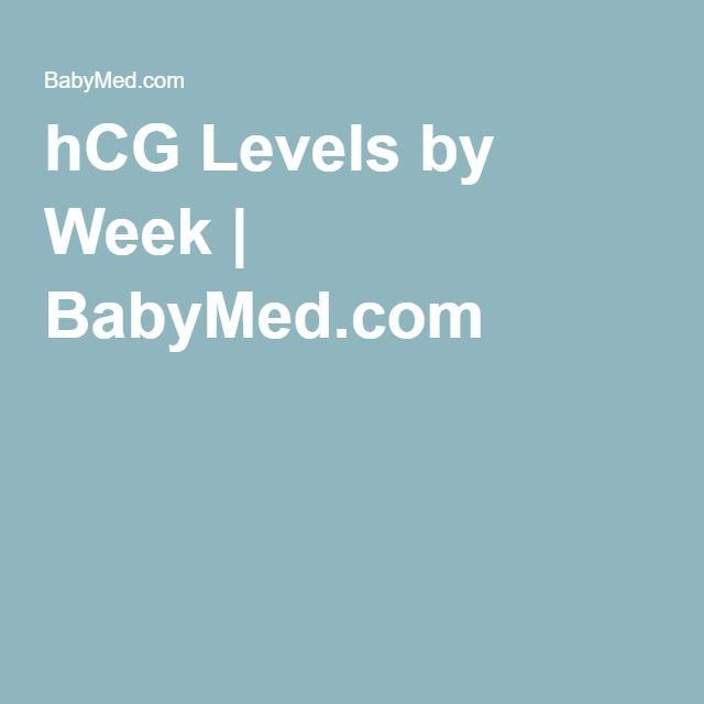 hCG Levels by Week | BabyMed com | For Leah | Hcg levels, Hcg levels