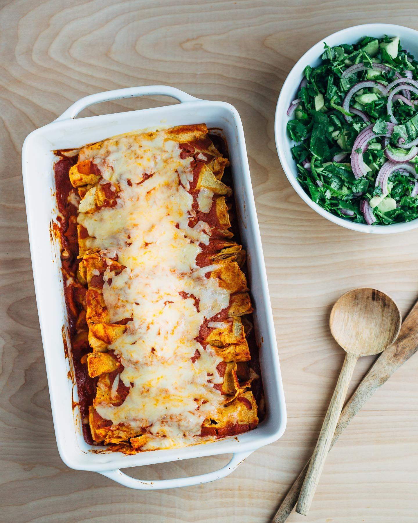Roasted Winter Squash Enchiladas | Rezept