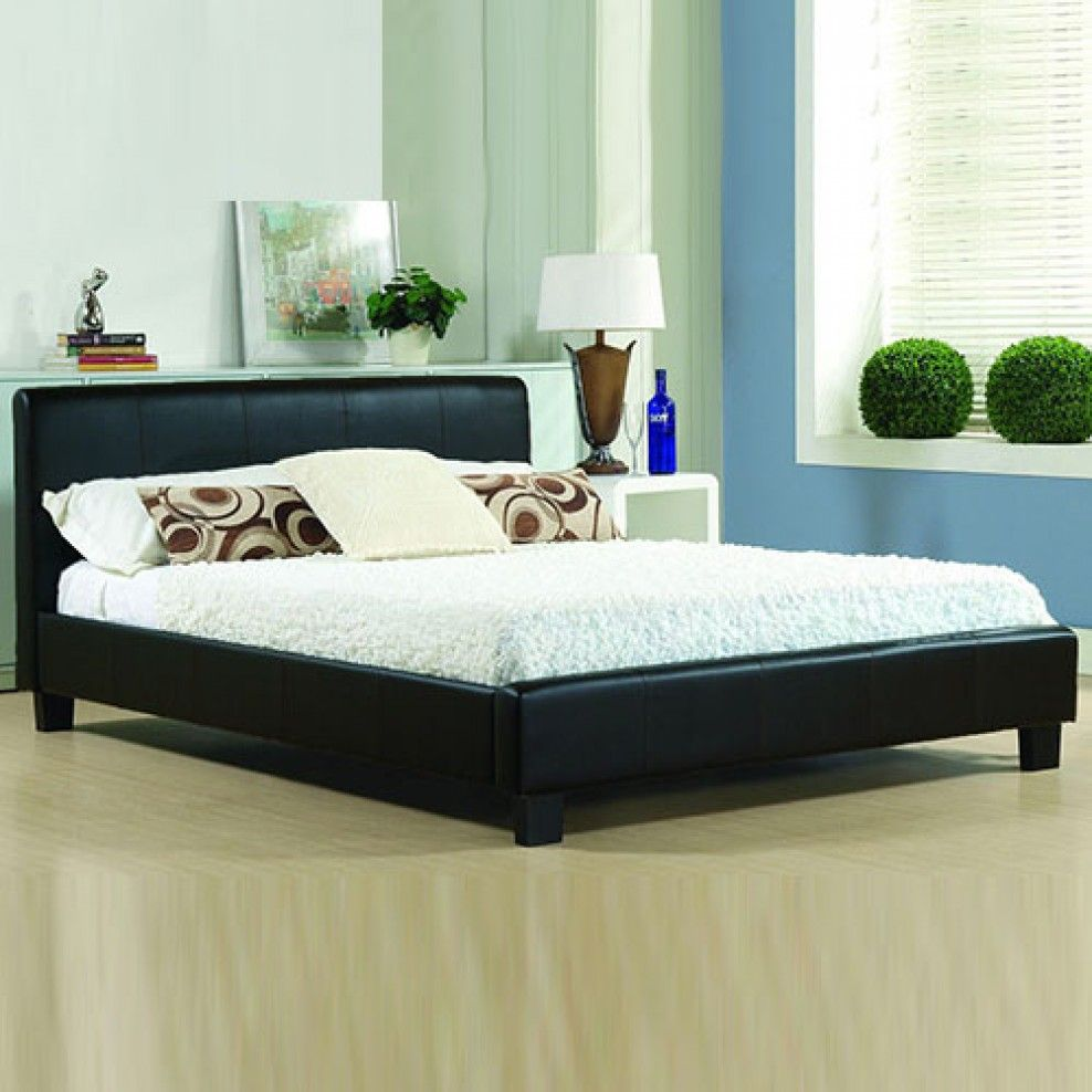 Double Bed With Mattress Deals Andrea Italian Designer Leather Bed Bedrooms