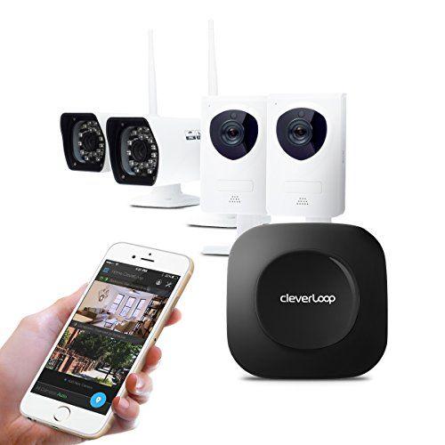 Cleverloop Smart Wi Fi Security Camera System With 2 Indoor 2 Outdoor Wi Fi Security Security Cameras For Home Home Security Systems Best Home Security Camera