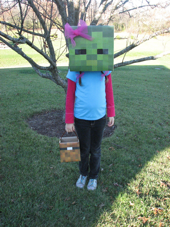 Minecraft Zombie Costume  Easy halloween crafts, Creative