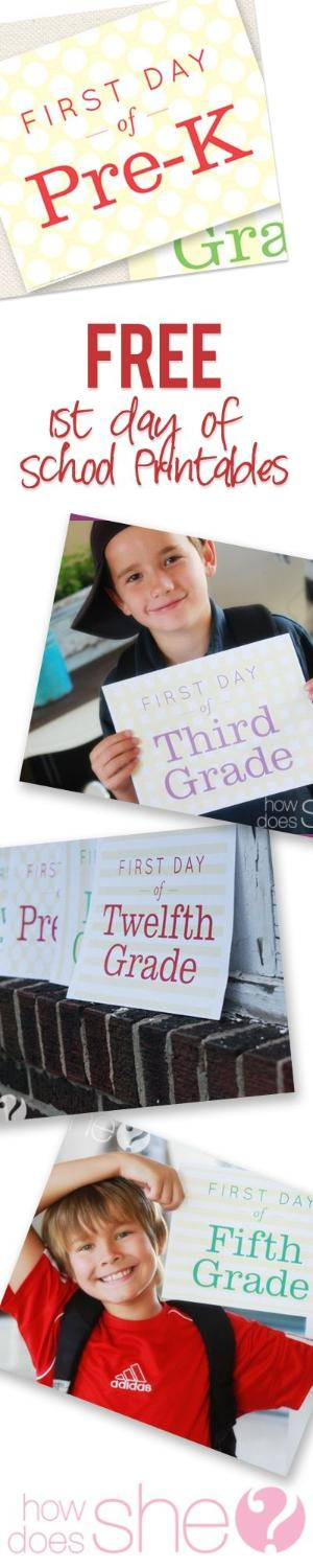 FREE- Exclusive 1st day of School Printables by kim.corley2