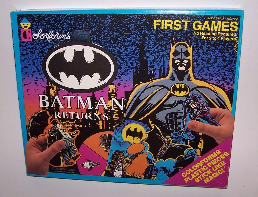 Batman Returns First Games Colorforms Adventure Play Set Unused 1992 Vintage #Colorforms